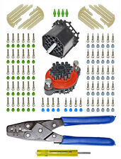 Weather Pack 22 Pin 20-12 AWG Bulkhead Connector Kit w/ Crimp & Removal Tools