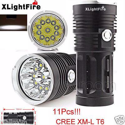 XLightFire 28000LM 11x CREE XM-L T6 LED Hunting Flashlight 4x 18650 Taschenlampn