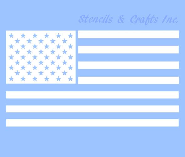 "5"" AMERICAN FLAG STENCIL STAR STARS CRAFT PATRIOT STENCILS PAINT TEMPLATE NEW"
