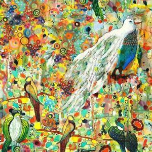 "46"" Remnant P&B New Generation Fabric Digital Print Joy of Life Birds JOLI 800 M"