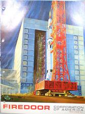 Firedoor Corporation of America Door Catalog ASBESTOS Air Cell Insulation 1960's