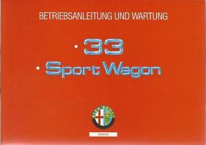 ALFA-ROMEO-33-Sport-Wagon-Betriebsanleitung-1994-Bedienungsanleitung-Handbuch-BA