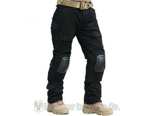 Camouflage Tactical Pants with Knee Pads Men/'s Camp Hiking Trousers