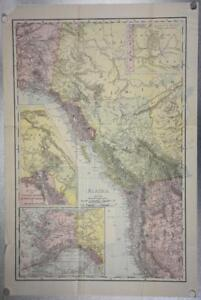 1903-Rand-McNally-Co-Map-of-Alaska-and-the-Yukon-Gold-Fields-Canada-California