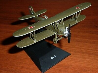 1//72 Polikarpov I-153 Soviet airplane WWII Die Cast 24 DeAgostini