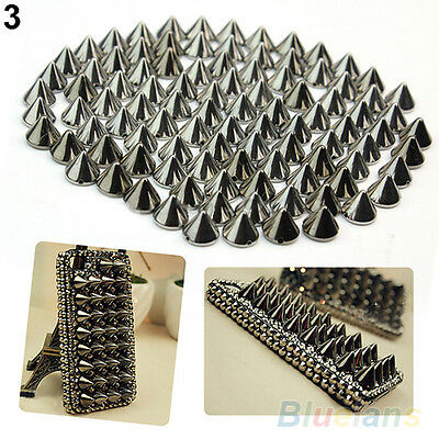 100 PCS STUNNING 10MM METAL STUD RIVET SPIKES CRAFT BAG LEATHERCRAFT DIY B78K