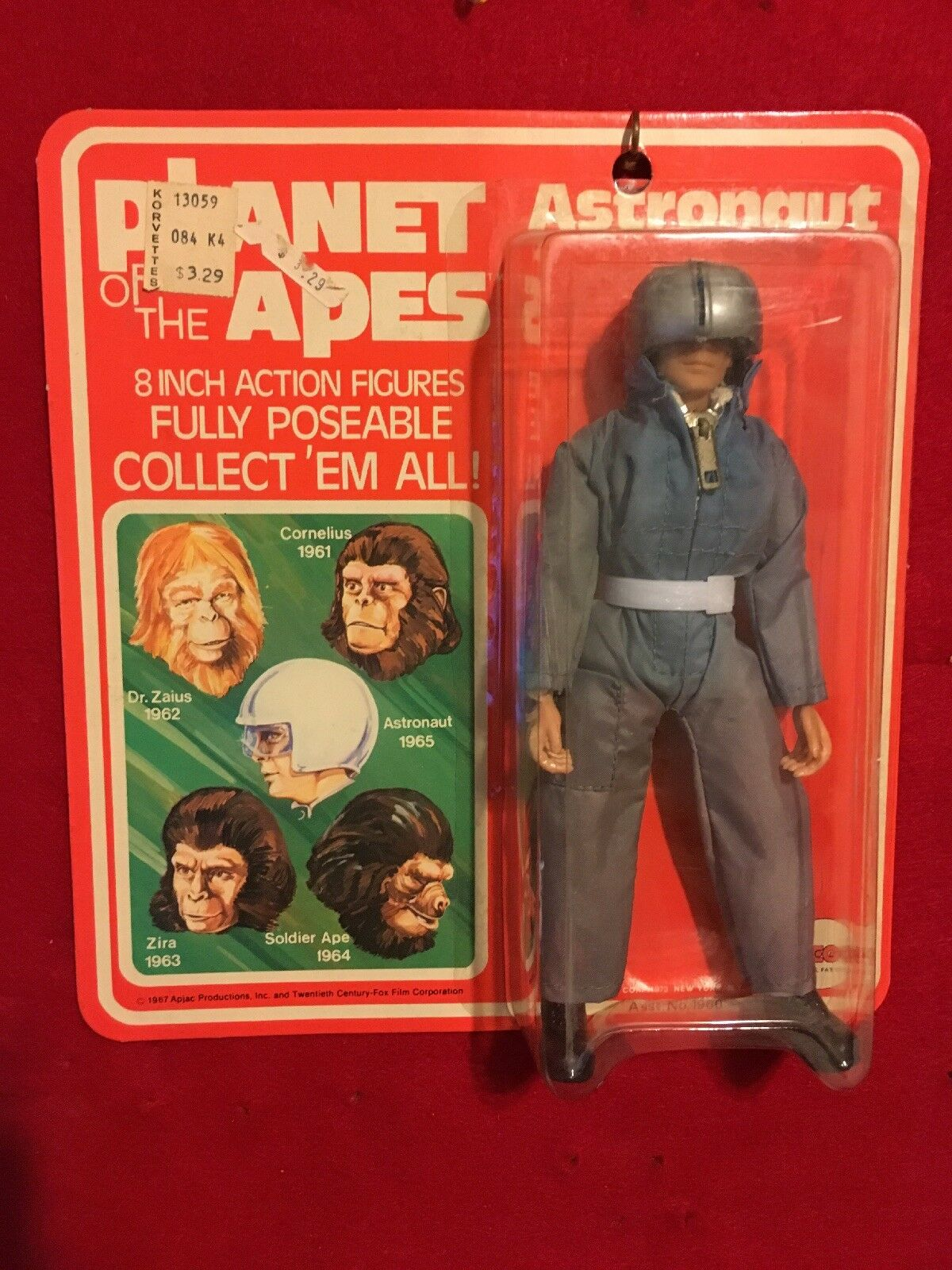 "Mego Planet of the Apes Astronaut 1967 8"" Action Figure In Box"