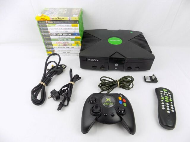 Microsoft Xbox Original Console Bundle + Controller + 14x Games - Works Perfect