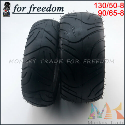 130//50-8 rear/& Tire 90//65-8 front TireTubeless Tyres For Buyang Electric Scooter