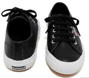 Black Leather FGLU 2750 Shoes EU 41 UK