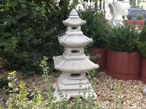 Feng Shui, Gartenfiguren, Steinguss, Skulptur, Japan Lampe XXL, 93 ...