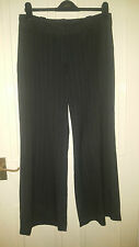 Debenhams Collection Smart Pinstripe Trousers Size 12 Dark Grey