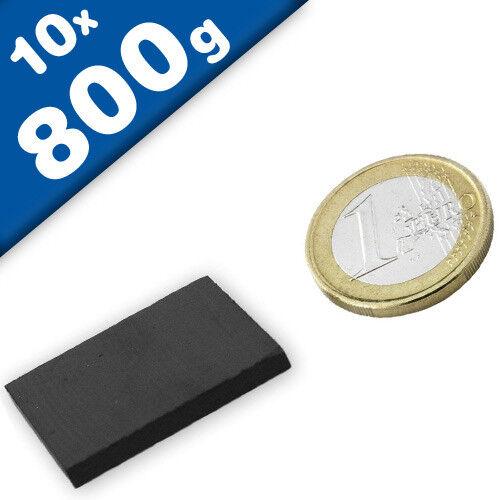 hält 800g Keramik-Magnet-Quader 10 x Quadermagnet 30 x 30 x 3mm Ferrit Y30
