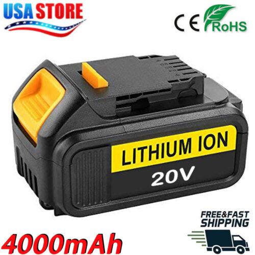 For DCB200 20V BATTERY DeWalt DCB205 DCB206 DCB204 XR 20V 4.0AH Lithium Battery