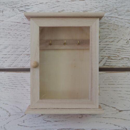 Mini À faire soi-même Peindre votre propre Craft en bois armoire à clés Armoire Boîte de rangement avec porte