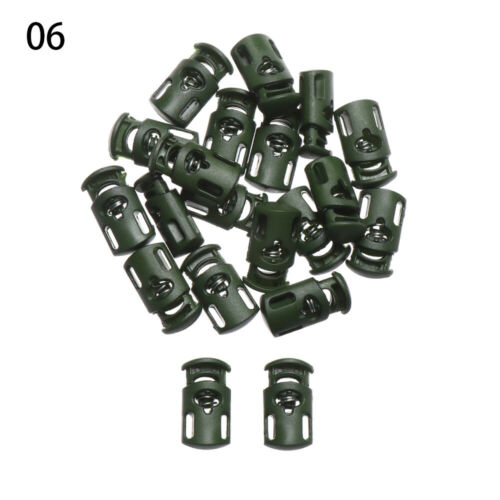 Stop Single Hole Spring Clasp Cord Lock Drawstring Stopper Toggles For Paracord