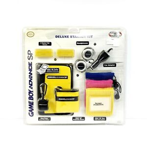 OFFICIAL NINTENDO GAME BOY ADVANCE SP SWITCH & CARRY DELUXE STARTER KIT YELLOW