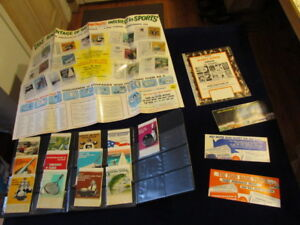 Vtg 1971-72 Snibble Sports Guide Salesman's Sample w/13 Bkt Football Baseball Sj
