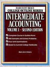 Intermediate Accounting (Harcourt Brace Jovanovich College Outline Series)