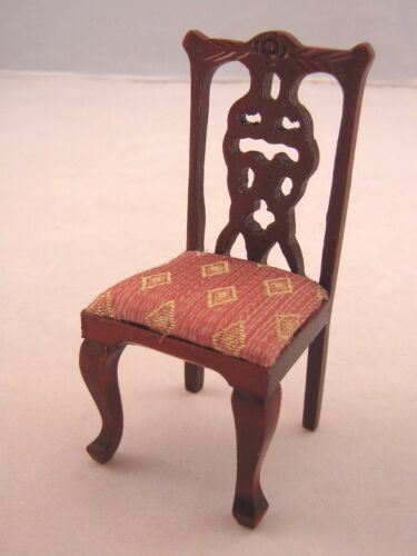 Side Chair dollhouse miniature wood furniture T3281 1//12 scale mahogany finish