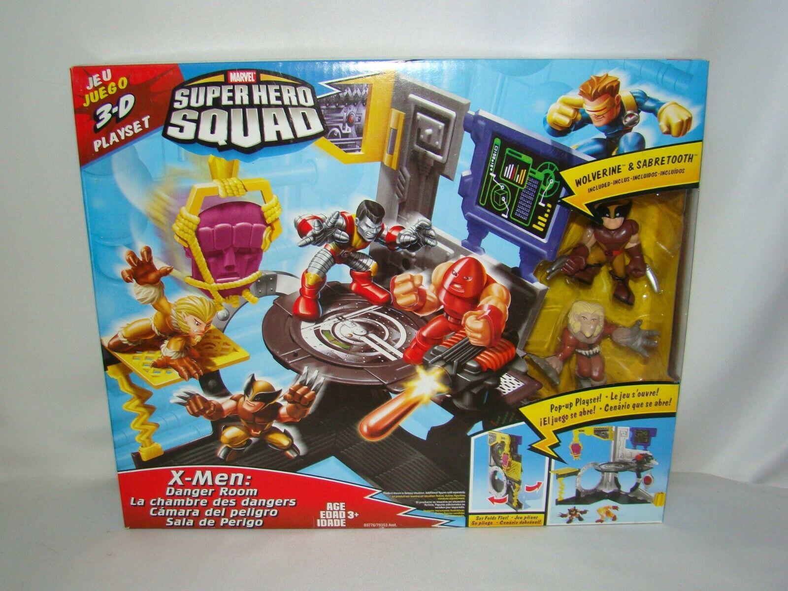 B52 Marvel súper Hero Squad pop-up 3D X-men peligro Conjunto de juego de la habitación con Wolverine Nuevo