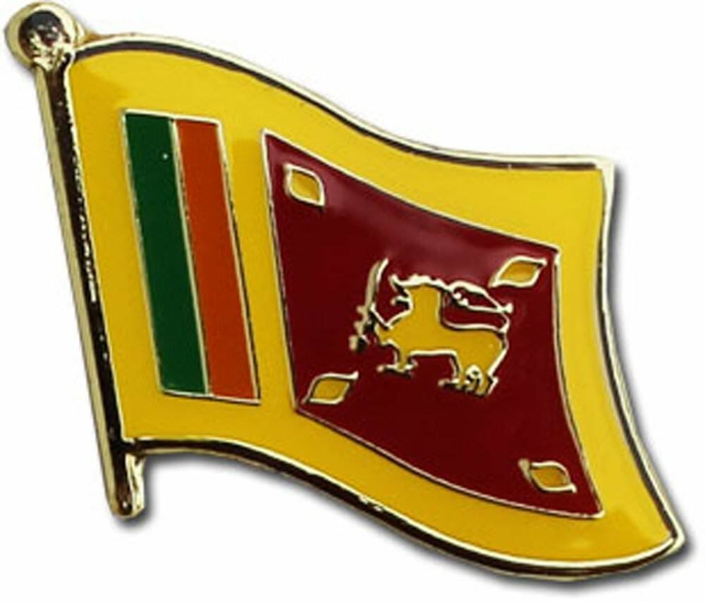 Wholesale Pack of 50 Sri Lanka Country Flag Bike Hat Cap lapel Pin