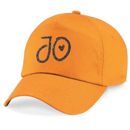Kids Personalised Glitter Name Baseball Cap Printed Customised Hat Girls Boys