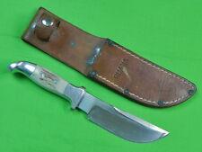 Vintage US Custom Hand Made RUANA Bonner Montana Hunting Skinner Knife & Sheath