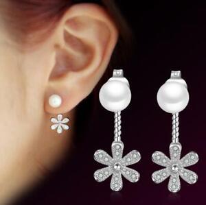 Fashion-1-Pair-Women-Lady-Elegant-Pearl-Crystal-Rhinestone-Ear-Stud-Earrings