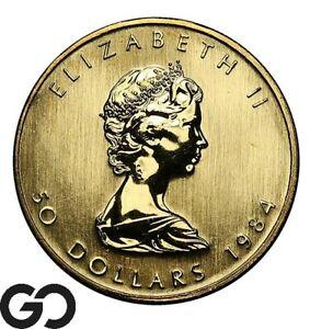 1984 Canadian Gold Maple, 1 OZ .9999 $50 Canada Fine Gold Bullion Piece!