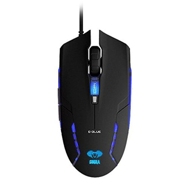 E-Blue Cobra Junior Black USB Optical Gaming Mouse 6 Button Adjustable DPI