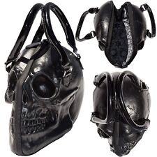 Black Skull Purse Goth Chic Style Kreepsville Latex Bowler Bag Halloween Handbag