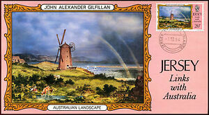 Jersey-1984-Links-With-Australia-26p-Maximum-Card-C37228