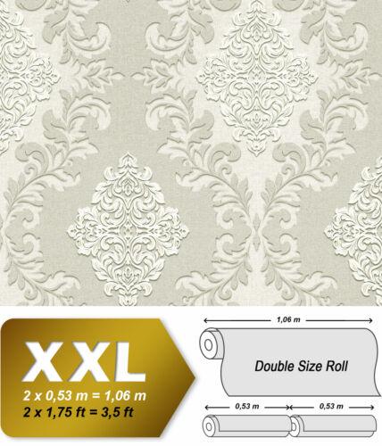 EDEM 9123-20 Barock Vliestapete Ornament schimmernd grau weiß 10,65 m2