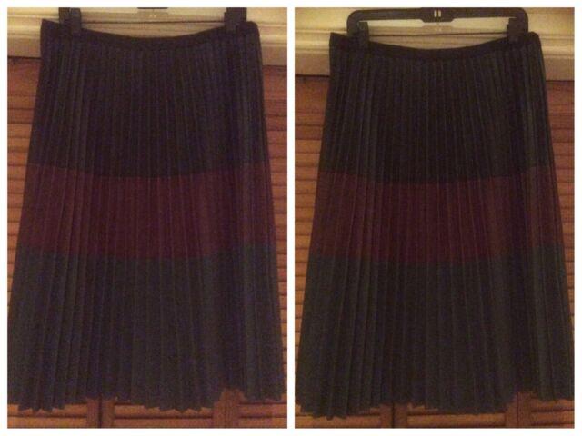 dd41b6297a BCBG Max Azria Elsa Faux-leather Skirt Sz L Black Comb for sale ...
