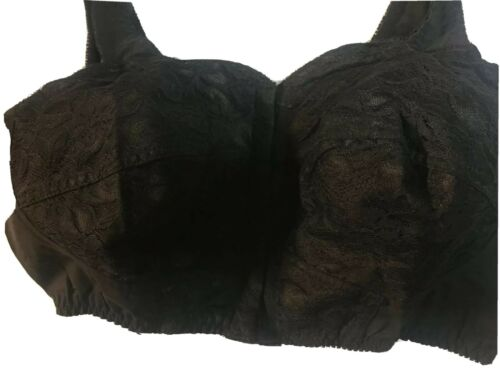 Details about  /Women Black// white wire free LACE front closure Bra Undergarment Plus size Sale