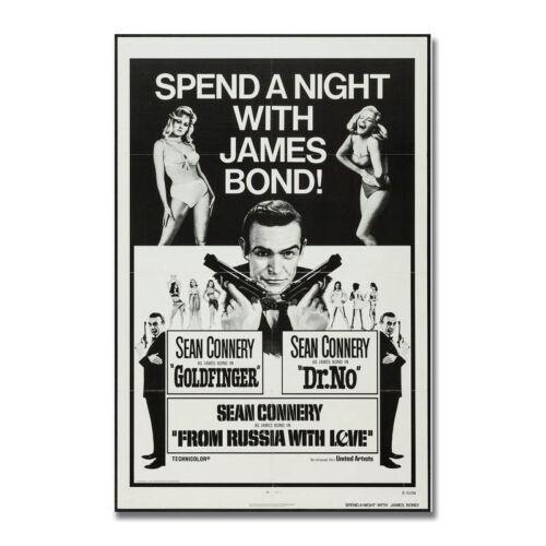 The James Bond 007 Hot Movie Art Silk Poster Print 13x20 24x36 inch