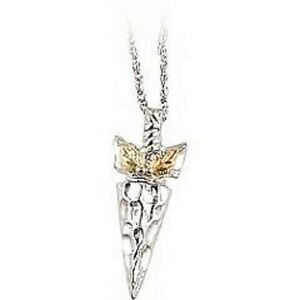 Black hills gold and sterling silver arrowhead pendant ebay image is loading black hills gold and sterling silver arrowhead pendant mozeypictures Gallery