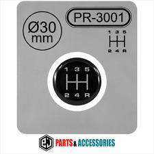 Pomello del cambio Leva del cambio Modello Adesivo 3d a cupola Stick Emblem Badge 5 velocità manuale