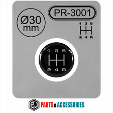 Gear Knob Shift Pattern Lever Sticker 3D Domed stick emblem badge 5 Speed manual