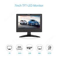 "7"" Inch TFT LCD Color Video Audio VGA HDMI BNC USB Monitor Screen Fr DVR PC CCT"
