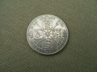 1889   QUEEN  VICTORIA    SILVER  DOUBLE FLORIN  COIN  (  VERY GOOD GRADE )