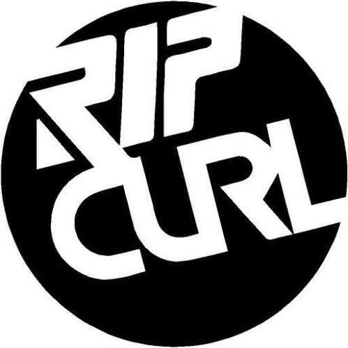 RIPCURL CIRCLE surfing surfboard paddleboard campervan car sticker 100mm