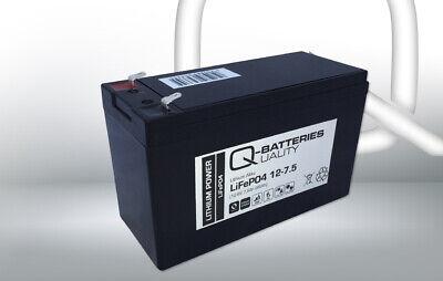 LiebenswüRdig Q-batteries Lithium Ionen Batterie Akku Lifepo4 12-7.5 Lithium Akku 12,8v 7,5ah SorgfäLtige FäRbeprozesse Elektromaterial Heimwerker