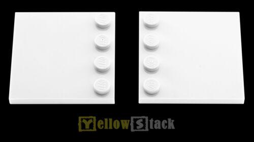 2x LEGO® 6179 4x4 Fliese mit Randnoppen weiß NEU white