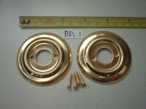 ROSES RIM LOCK  BPL 1 2 x 60 mm DIA ANTIQUE STYLE BRASS DOOR KNOB BACK PLATE