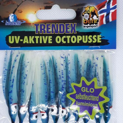 BEHR Trendex UV Actif Mini muppets poulpe calmar mer leurres Pack de 10 6.5 cm