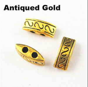 20-pcs-3-colors-10mm-retro-Antique-Metal-Alloy-Two-Hole-Spacer-Beads-Diy-hot