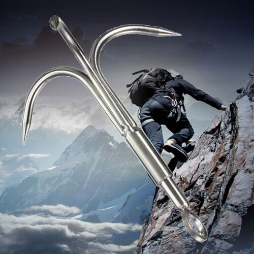 Survival Grappling Stainless Steel Hook Rock Climbing Carabine Outdoor Claw