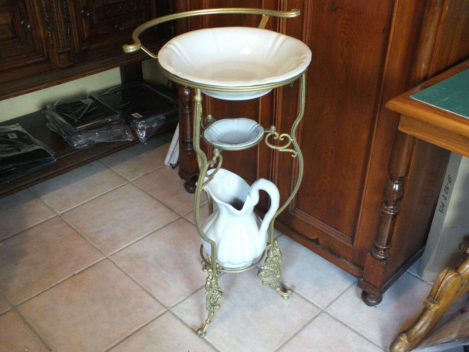 NUR ABHOLUNG   Wasch Set Waschset Porzellan     Keramik Weiß mit Ständer | Perfekte Verarbeitung  3da209